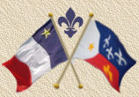 Acadian-Cajun Flag & French-Canadian Shield button