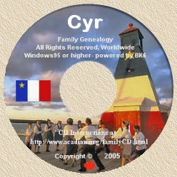 Family Genealogy CD-ROM lable